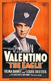Theatrical poster for the 1925 silent film The Eagle starring Rudolph Valentino.