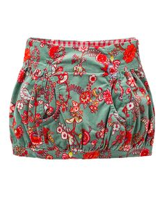 Look at this Oilily Green & Pink Floral Corduroy Sibi Skirt - Toddler & Girls on #zulily today!