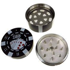 LIHAO Poker-Chips Pollen Grinder Zerkleinerer für Tabak,Spice,3-teiliges Set Tabakmühle für Kraeuter,Gewürze Herb,Spice,Tobacco - http://www.amazon.de/dp/B00V5Y8C6E