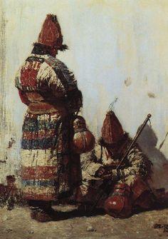 Uzbek dishes seller - Vasily Vereshchagin