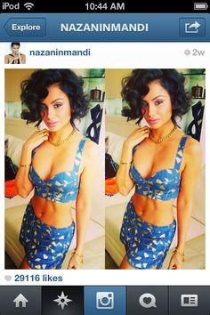 Nazanin Mandi .... possible hair inspiration