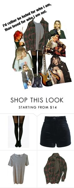 """kurt cobain"" by tearsofashes on Polyvore featuring moda, Pretty Polly, Les Petites... ve Olive"