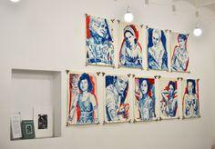 Blue Ladies -  watercolours on paper khadi 56 x 76 cm 400 euro each