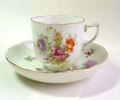 Herend Porcelain Cup and Plate. Dated 1909