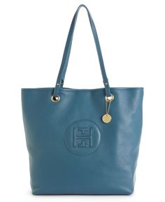 Tommy Hilfiger Handbag, Pebble Leather Easy Tote - Tote Bags - Handbags & Accessories - Macy's