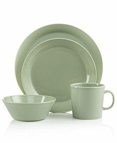 Iittala Dinnerware Teema Celadon Collection - Casual Dinnerware - Dining u0026 Entertaining - Macyu0027s  sc 1 st  Pinterest & Vera Wang Wedgwood Dinnerware Naturals Graphite Collection   Dream ...