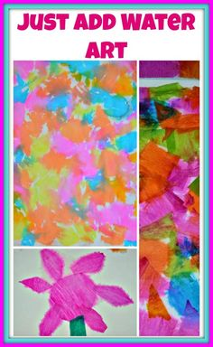 easy art projects for kids with crepe paper and water
