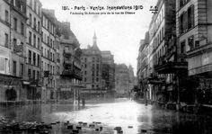 Rue du Faubourg Saint Antoine / Paris 11ème / Paris 12ème / Innondations de 1910