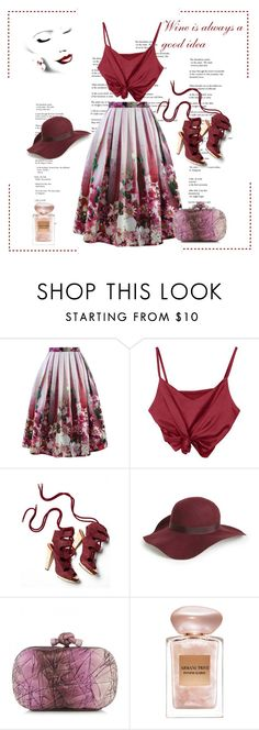 """*Wine is always a good idea contest* - Set#1"" by sassy-elisa ❤ liked on Polyvore featuring Chicwish, Derek Lam, Topshop, Bottega Veneta and Giorgio Armani"