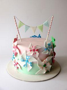 Festive Pinwheel Cake Tutorial | Party Ideas By Seshalyn
