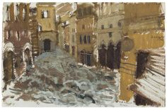 Painting of the November 4th, 1966 Florence flood