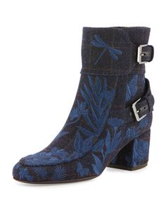 496a8186f10 Laurence Dacade Babacar Embroidered Buckle 50mm Bootie