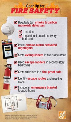 Gear Up for Fire Safety: Follow these tips to keep your family and home safe in the event of a fire!