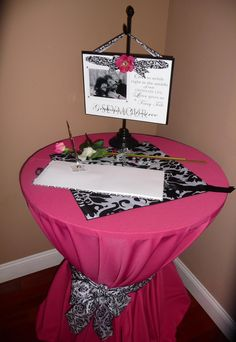 This is cute. I wonder if Chris would mind a black and pink wedding :)