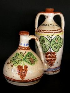 Pair of Wine Jugs - Samos(Aegean Sea Greece) - Muscat Grapes