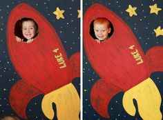 Rocket birthday party photo op