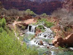 Falls at Havasupai Indian Reservation, Arizona
