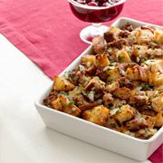 If you're looking for a stuffing to cook separate from the bird, adding sausage and herbs will make it flavorful all on its own.