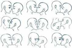 Anime kissing, heads; How to Draw Manga/Anime