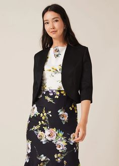 Add the finishing touch to occasionwear with this fitted open front jacket - we love the contemporary peplum hem at the back. Phase Eight Occasion Wear, Occasion Dresses, Designer Jumpsuits, Petite Outfits, Phase Eight, Cool Jackets, Coats For Women, Peplum, How To Wear