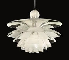 This was designed in 1929!!!!!   Ceiling lamp, Septima 5. Designed by Poul Henningsen for Louis Poulsen, Denmark. 1929.