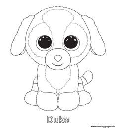 Print duke beanie boo coloring pages                                                                                                                                                     More
