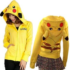 We love it and we know you also love it as well Hot Sale Japan Anime Pikachu Costume Women Cosplay Cute Pikachu Hoody Clothes Pikachu Zip-Up Hoodies Costume For Party Wear just only $14.74 with free shipping worldwide  #womanhoodiessweatshirts Plese click on picture to see our special price for you