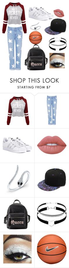 """""""3/4 of my personality"""" by candy-without-name ❤ liked on Polyvore featuring WithChic, STELLA McCARTNEY, adidas Originals, Lime Crime, Charlotte Russe and NIKE"""