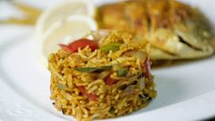 Pallavizza: Meen Pollichathu with Spicy Curried Rice