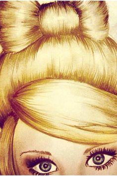 Kristina Webb!!!!!!!!! Super girly bun! Love the lashes girl! ;)