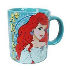 The Little Mermaid Ariel Standing 14 oz. Ceramic Mug - Silver Buffalo - Little Mermaid - Mugs at Entertainment Earth