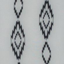 Ivory/Black+Tribal+Printed+Polyester+Chiffon