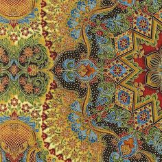 Gilded opulence - fabric designed by Peggy Toole and Robert Kaufman #textiles