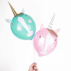 Unicorn party balloons, rainbow, Create Your Own Balloon Kit, Kids Children's Birthday, Party Balloons, unicorn Decorations, Unicorn Theme