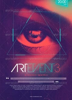 Minimal Electro Art Event 3 Poster Flyer Template