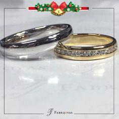El clásico anillo de media caña, un estilo de lo más tradicional y clásico, una joya eterna.  #AnillosDeCompromiso #ArgollasDeMatrimonioCali #JoyeriaNoviasCali