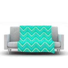 Symetrical by CarolLynn Tice Fleece Throw Blanket