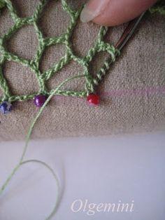 Выдающийся крючком: ирландское вязание крючком. Даже края неровной сети. Мастер-класс от Olgemini.