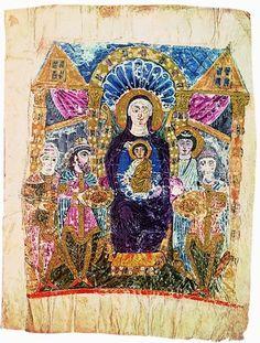 Armenian illuminated manuscripts - Ejmiadzin Gospel 6th-7th C.
