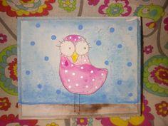 Caja pintada pajarito