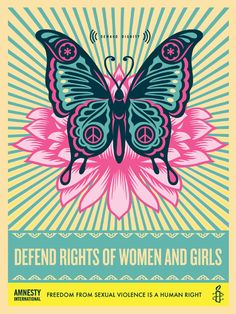 Defend the Rights of Women and Girls.  Amnesty International by Shepard Fairey