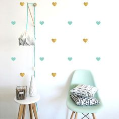 Pöm le bonhomme produce modern, on trend kids wall decals for nurseries to pre-teens. These funky wall stickers will transform any blank space. Girls Bedroom, Bedroom Decor, Sheila E, Modern Room Decor, Big Girl Rooms, Heart Wall, Baby Kind, Nursery Inspiration, Wall Decals
