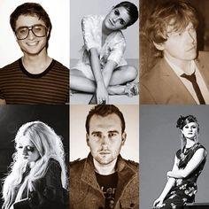 Harry Potter people. Daniel Radcliffe, Emma Watson, Rupert Grint, Evanna Lynch, Matthew Lewis, Bonnie Wright