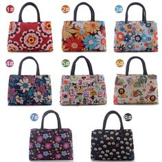 2 Layers Wateproof Flowers Lion Print Girls Women Carry Satchel Lunch Bag 10*7'' #Generic #Satchel