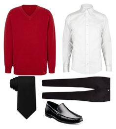 """uniform"" by ammateur ❤ liked on Polyvore featuring George, River Island, Tommy Hilfiger, Dolce&Gabbana, Stacy Adams, men's fashion and menswear"