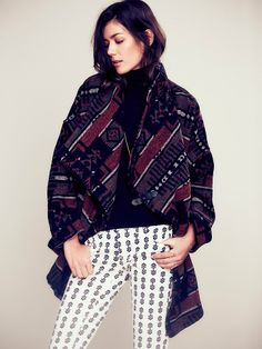 love it! Free People Slouchy Pattern Wrap, $298.00