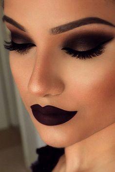 Smokey Eye Makeup | Dramatic Makeup | Dark Lip | Dark Eye