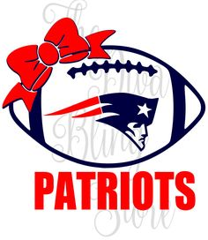 Patriots Inspired Football with Bow  SVG FIle by TheDivaBlingStore on Etsy https://www.etsy.com/listing/477223028/patriots-inspired-football-with-bow-svg