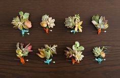 Very cool cactus boutonnieres! Perfect for a #destinationwedding.