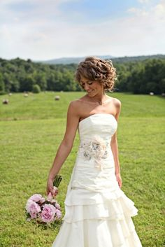 A Rustic Wedding-- love this dress